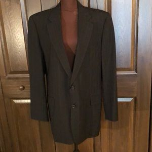 Hickey-Freeman black pinstriped Wool Blazer 44L